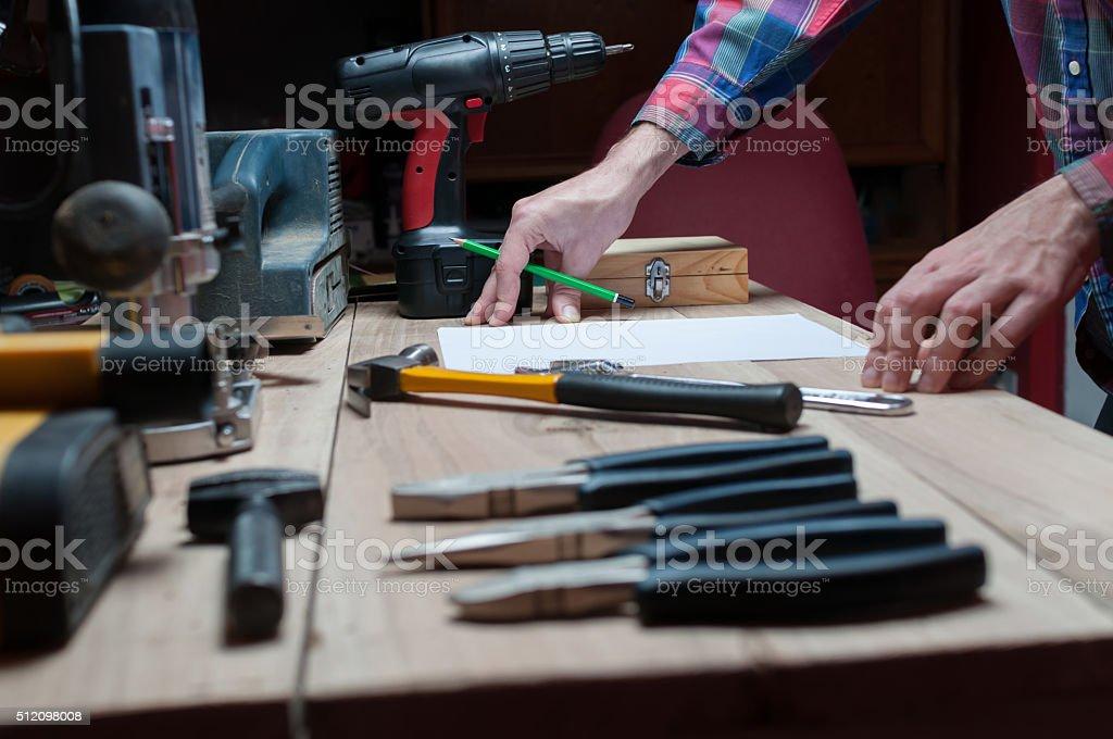 Designer prepare for the project stock photo