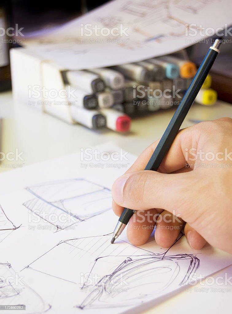 Designer Scribbling stock photo