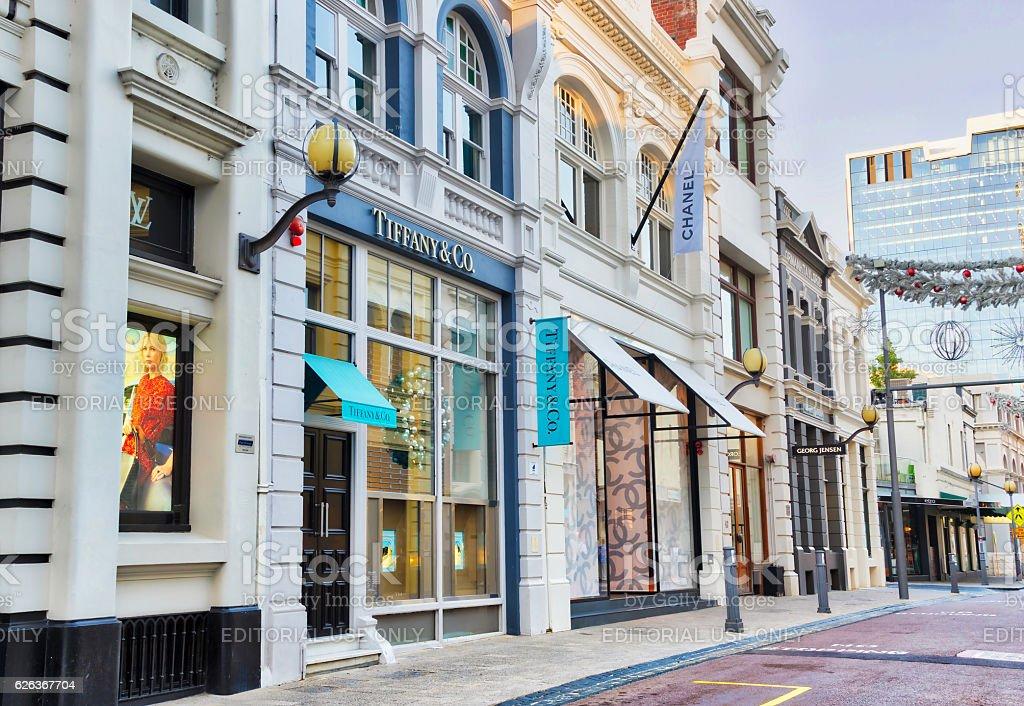 Designer Stores in Perth stock photo