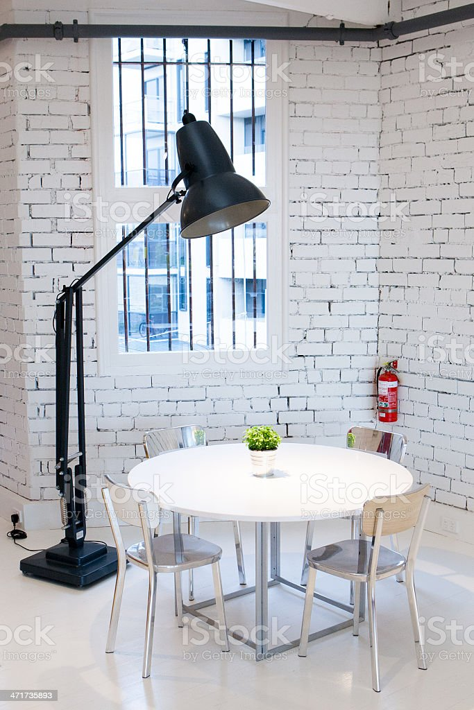 Designer Table & Chair royalty-free stock photo