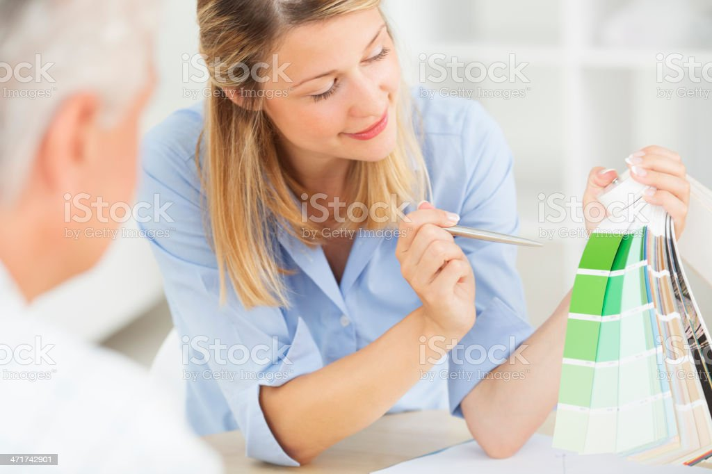 Designer Talking With Clients. royalty-free stock photo