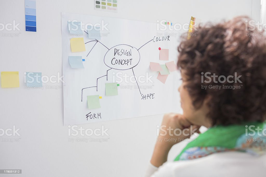 Designer watching white board royalty-free stock photo