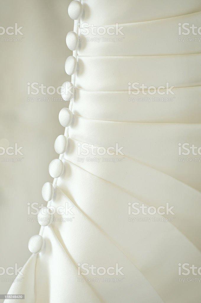 designer wedding dress back royalty-free stock photo