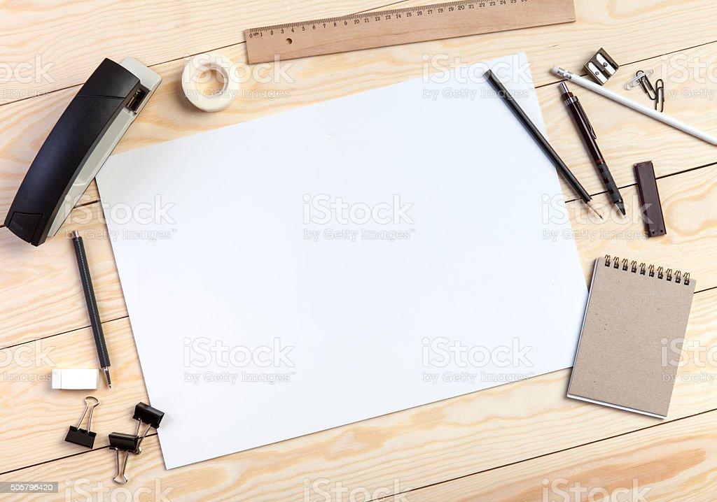 Designer workplace stock photo