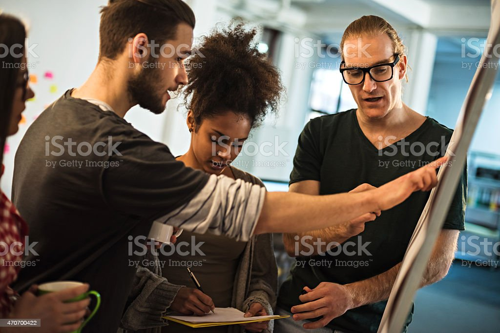 Designers at the meeting stock photo