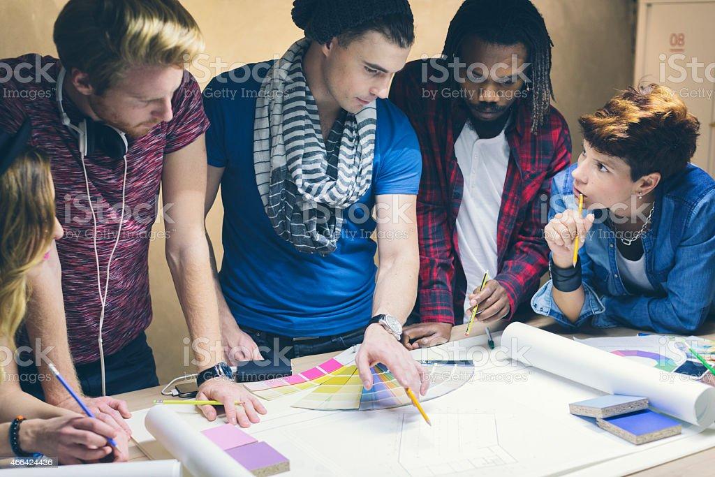Designers At Work. stock photo