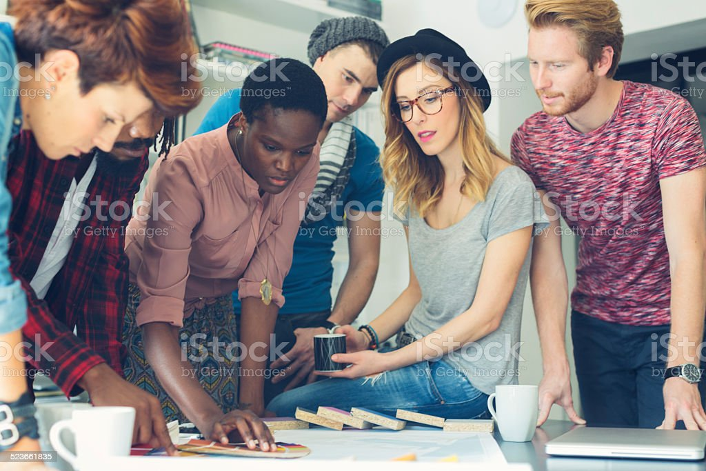 Designers Choosing Colors. stock photo