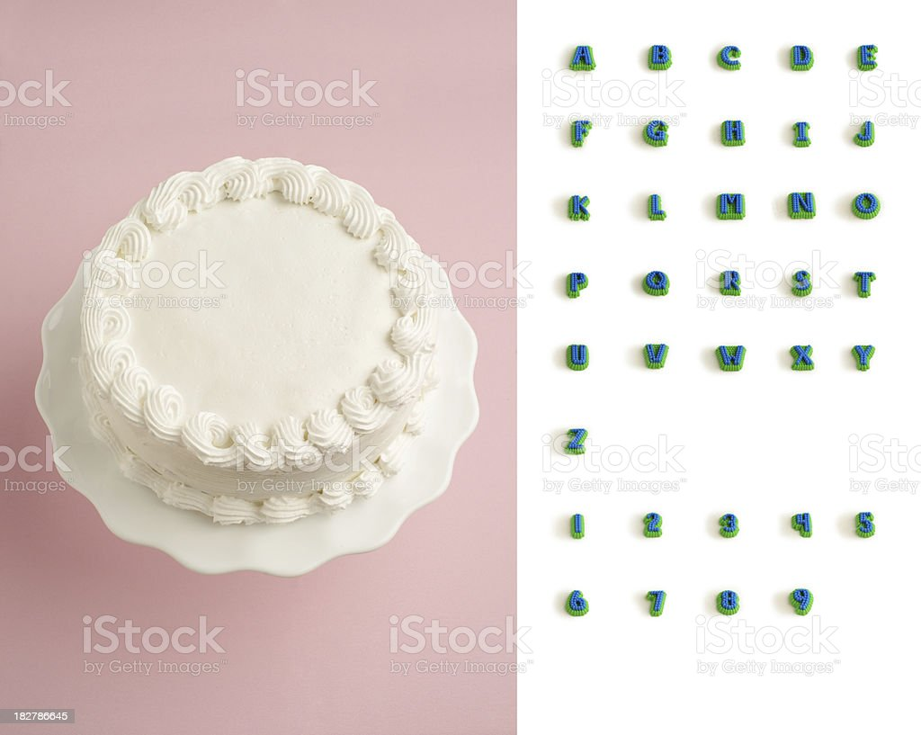 Designer's Decorate Your Own Cake Kit stock photo