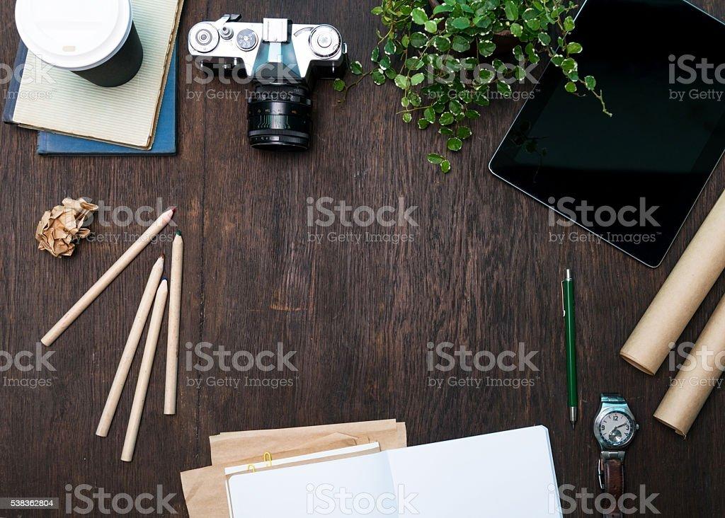 Designer's Desk stock photo