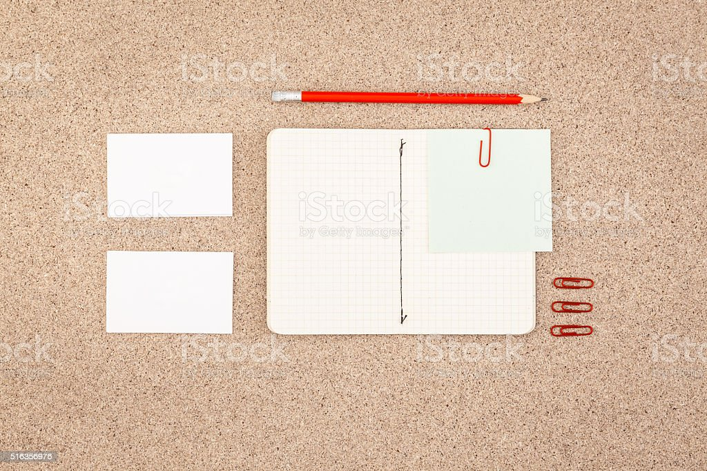 Designers desk. Top View. stock photo