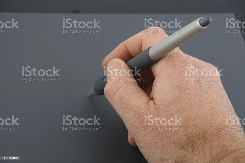 Designer's hand stock photo
