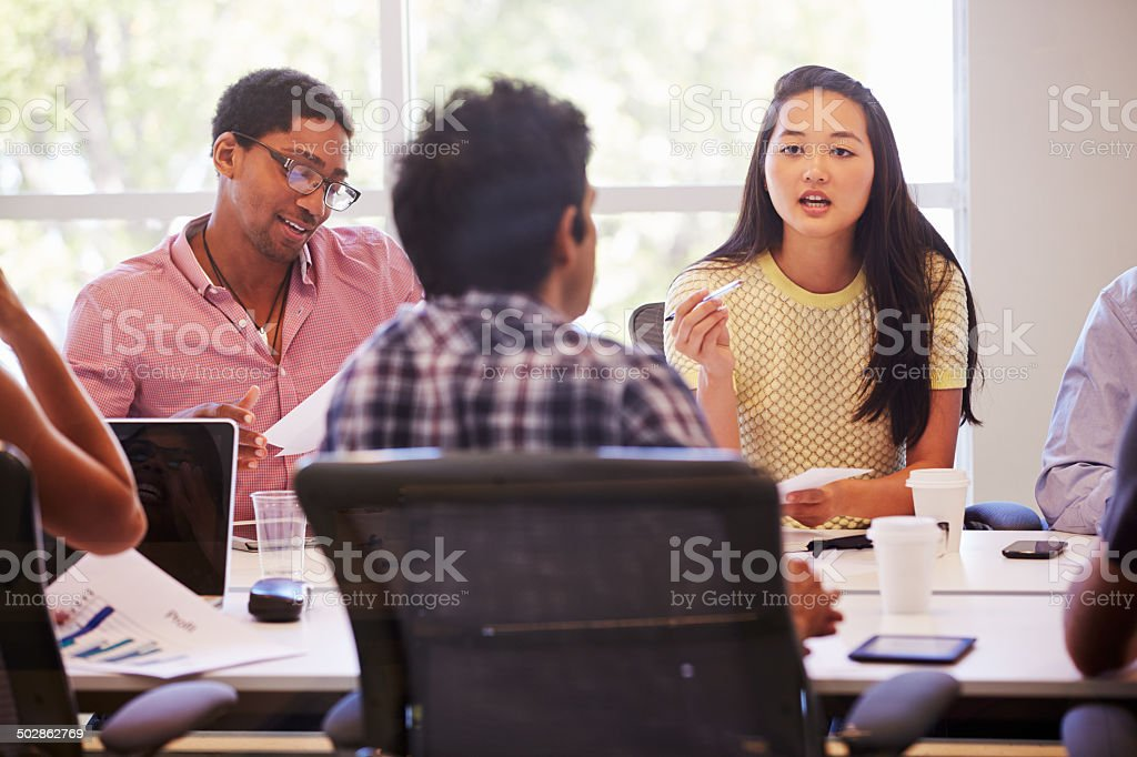 Designers Meeting To Discuss New Ideas stock photo