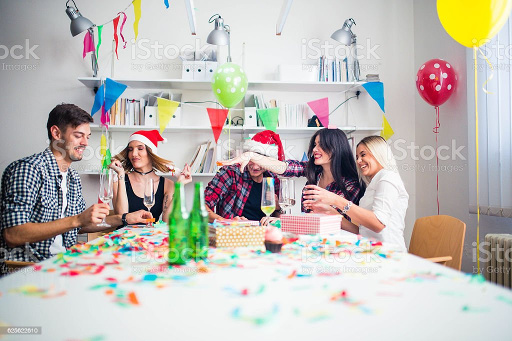 Designers on a new year's day stock photo