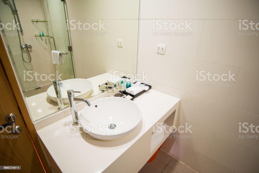 Designers sink in bathroom stock photo