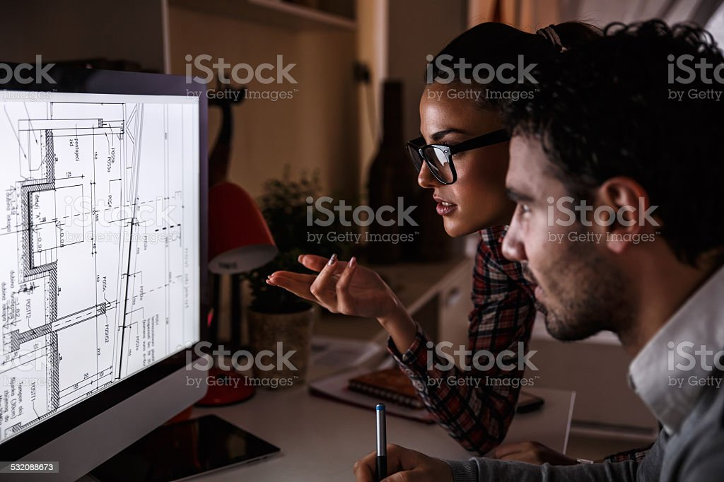 Designers working at home stock photo