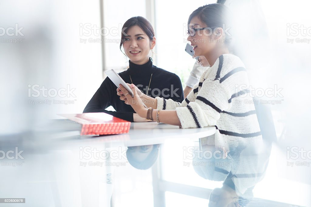 Designers working in a modern office stock photo