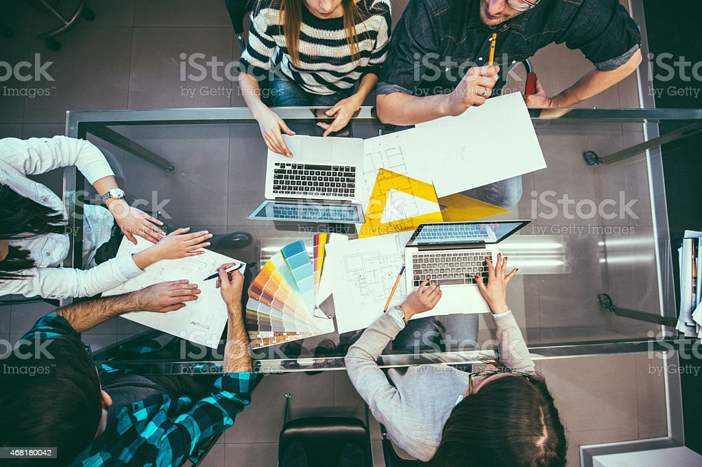 Designer's workplace stock photo