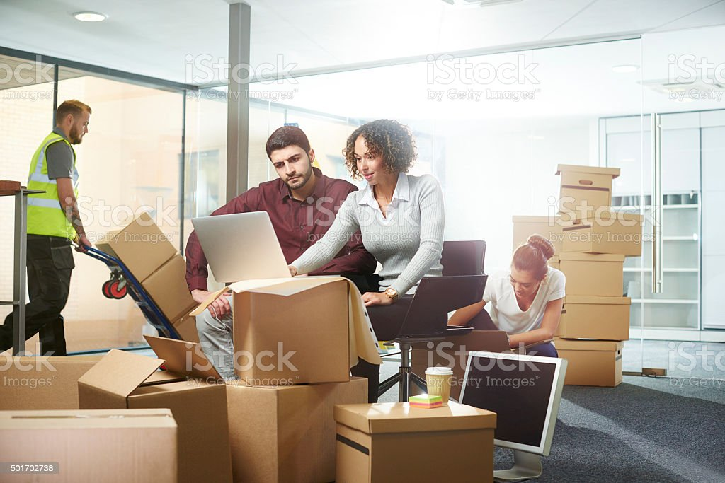designing the interior office space stock photo