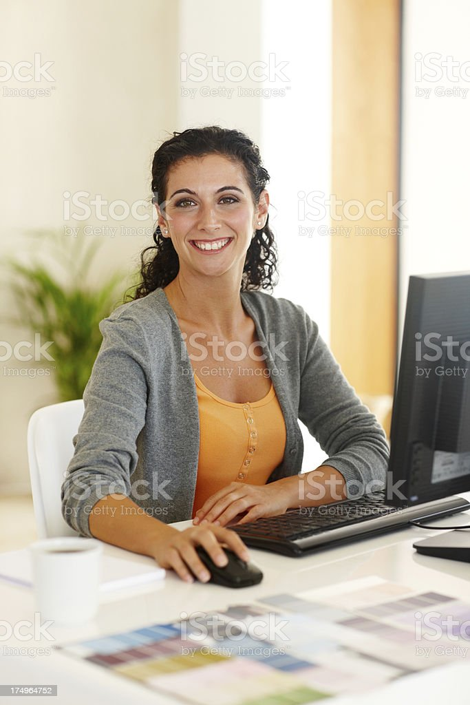 Designing the perfect interior for my client royalty-free stock photo