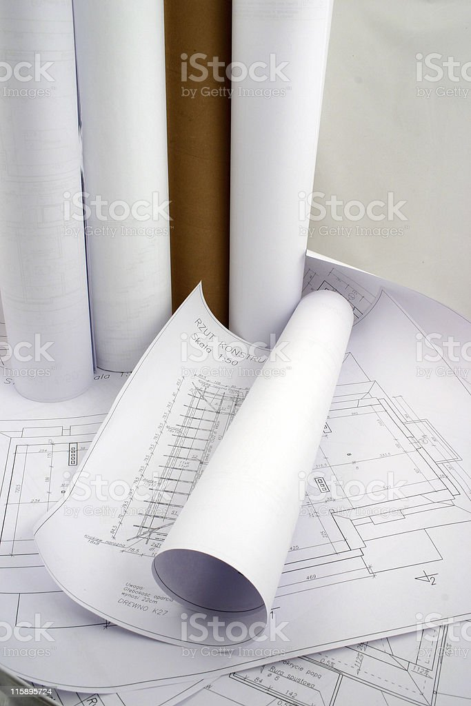 Designs and rolls of paper royalty-free stock photo
