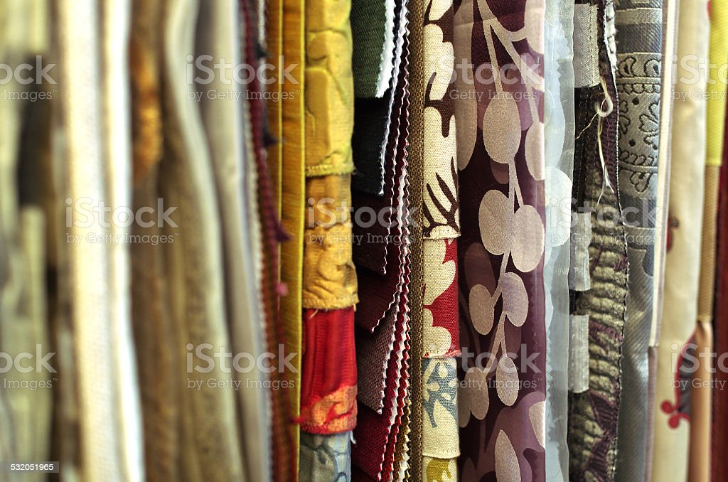Desing textil for curtains and interior stock photo