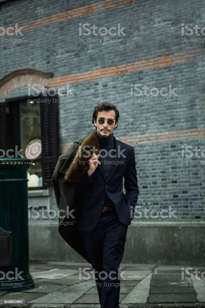Desirable gentleman stock photo
