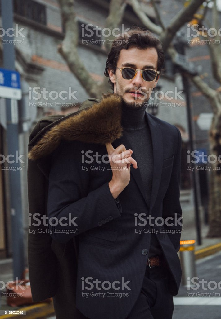 Desirable man stock photo