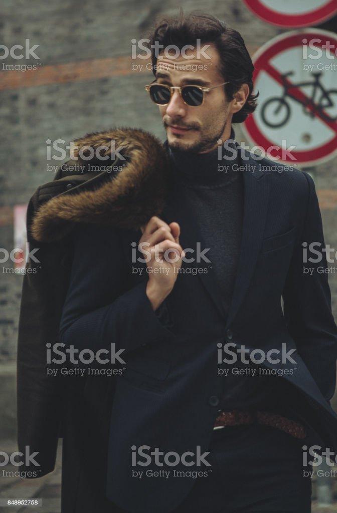 Desirable young gentleman stock photo
