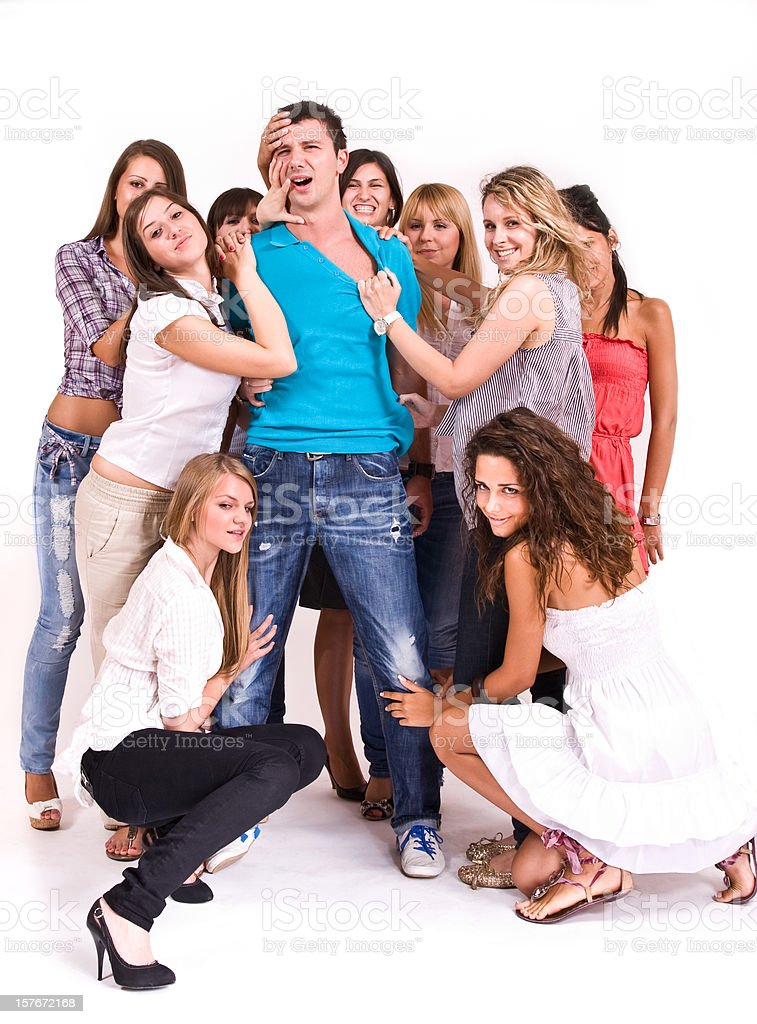 Desire for handsome man royalty-free stock photo