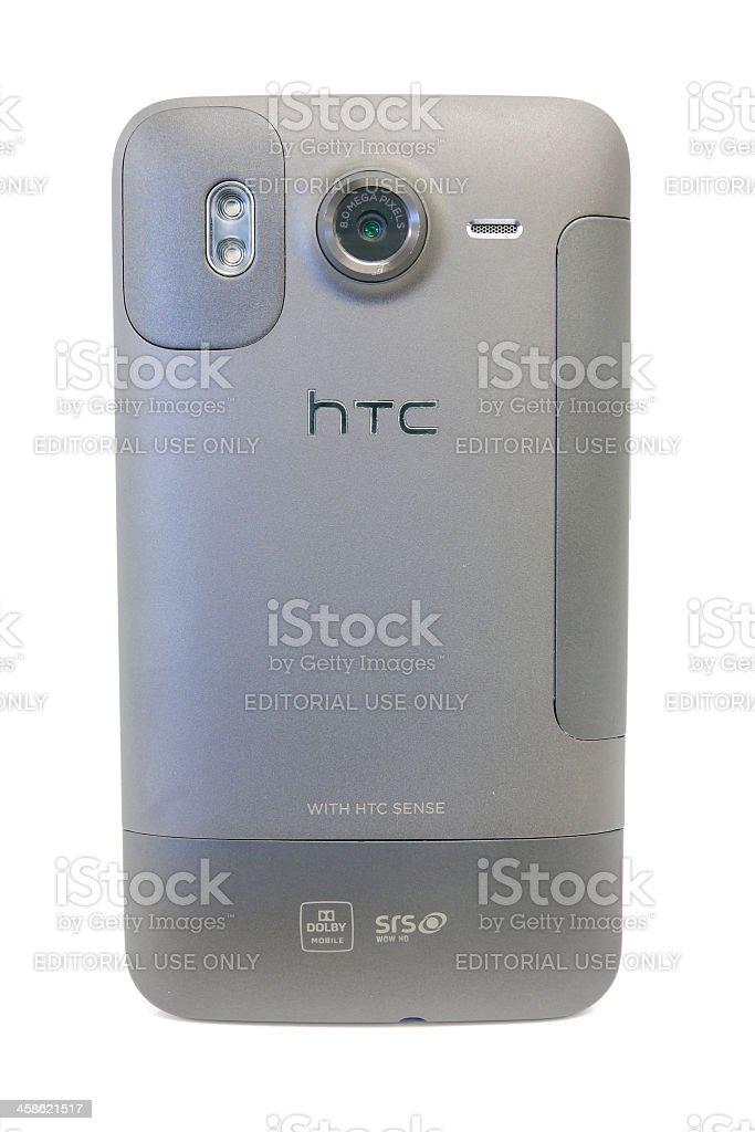 HTC Desire HD Back Side stock photo