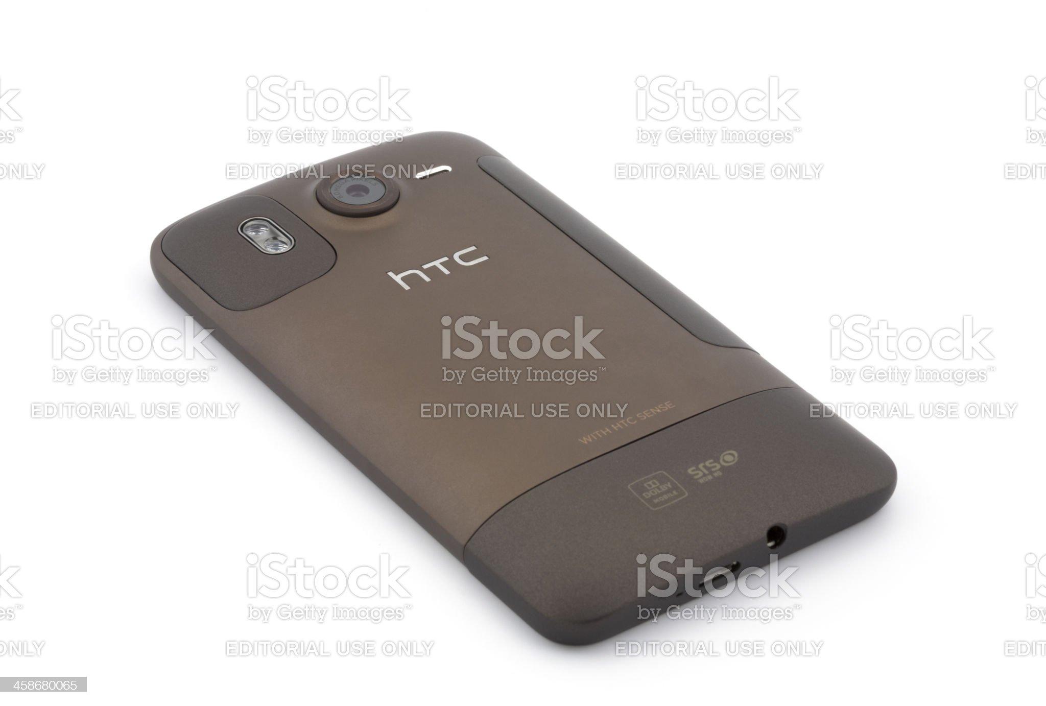 HTC Desire HD Back Side royalty-free stock photo