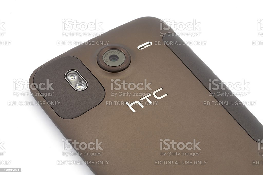 HTC Desire HD Back Side stock photo