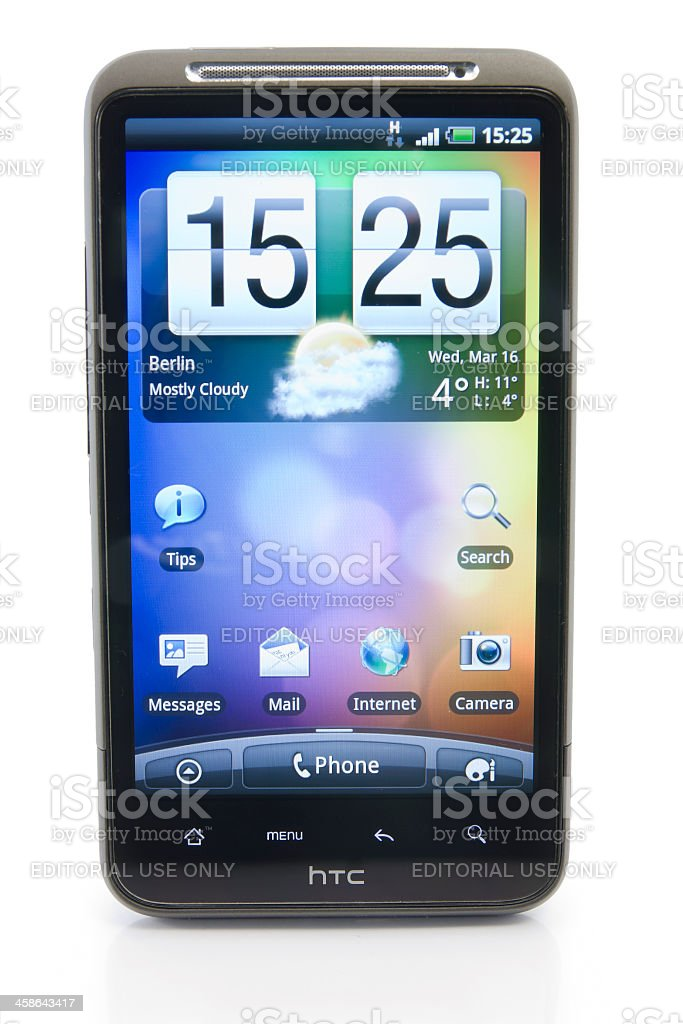 HTC Desire HD royalty-free stock photo