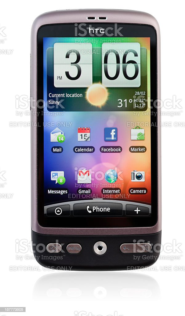 HTC Desire smart phone royalty-free stock photo