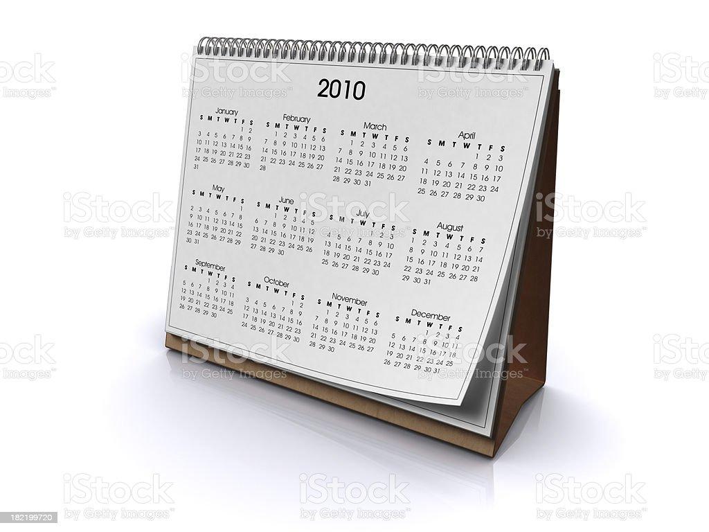 Desk Calendar - 2010 royalty-free stock photo