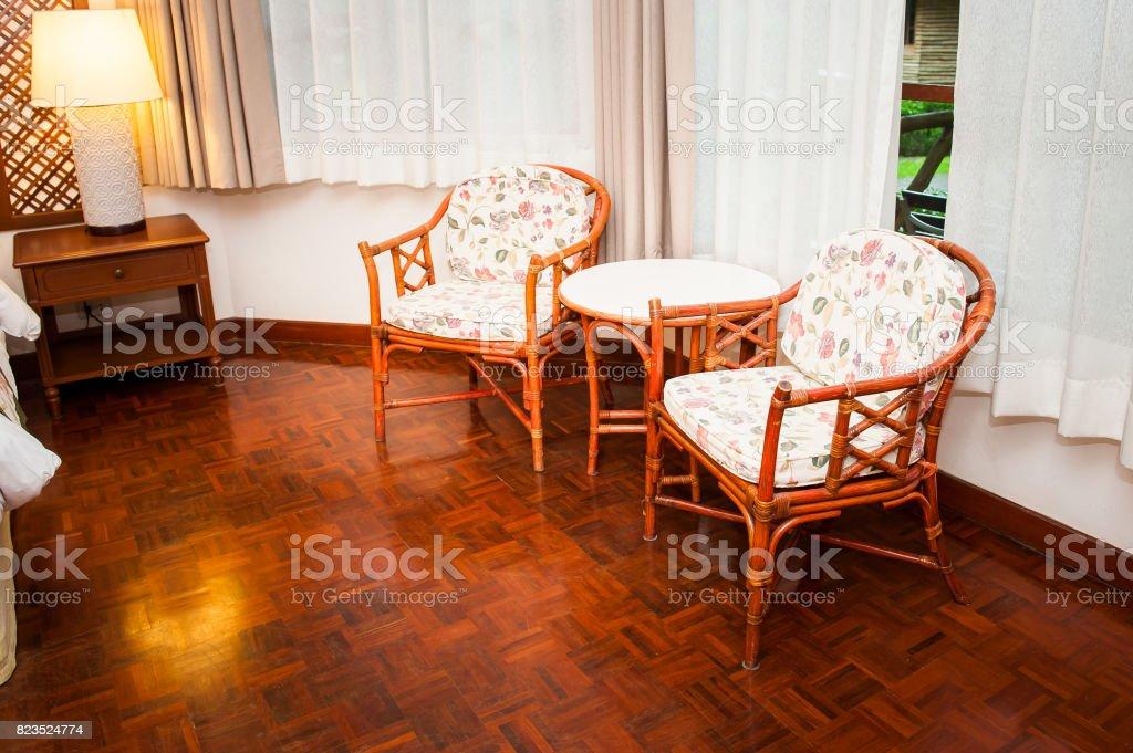 Desk chair stock photo
