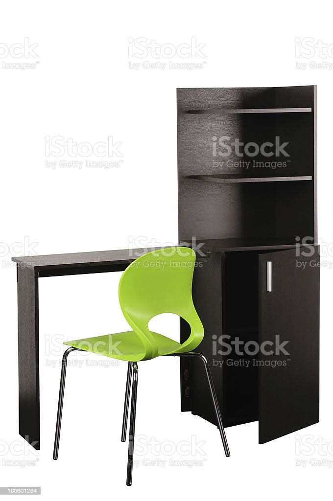 Desk. Clipping path. royalty-free stock photo