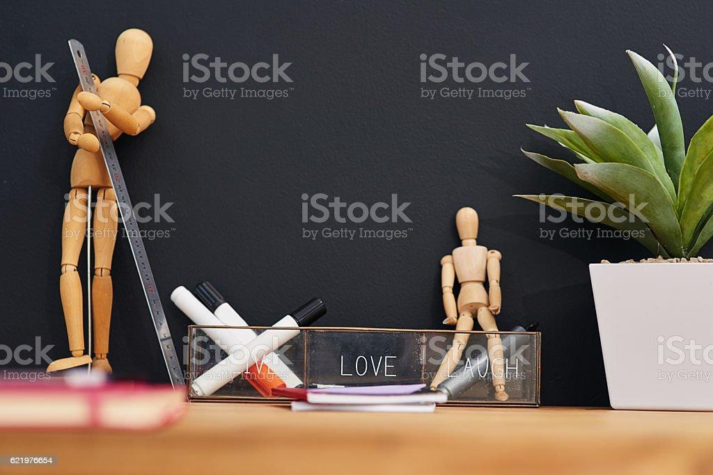 Desk decor stock photo