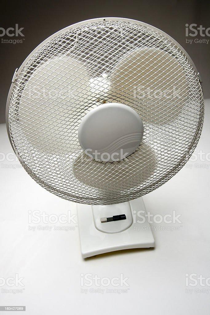 Desk fan stock photo