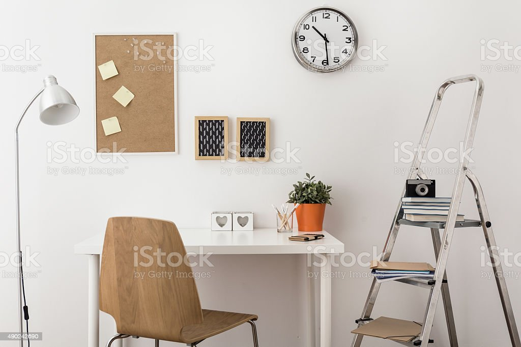 Desk for creative worker stock photo