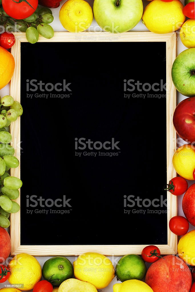desk in fruit royalty-free stock photo