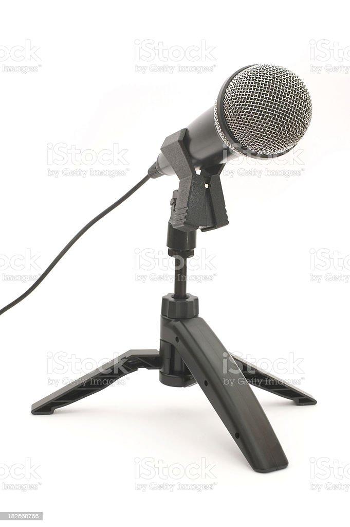 Desk mic royalty-free stock photo