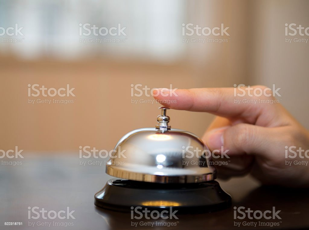desk service bell stock photo