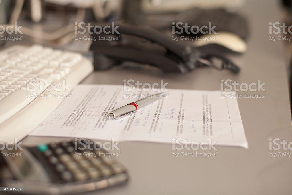 desk work royalty-free stock photo