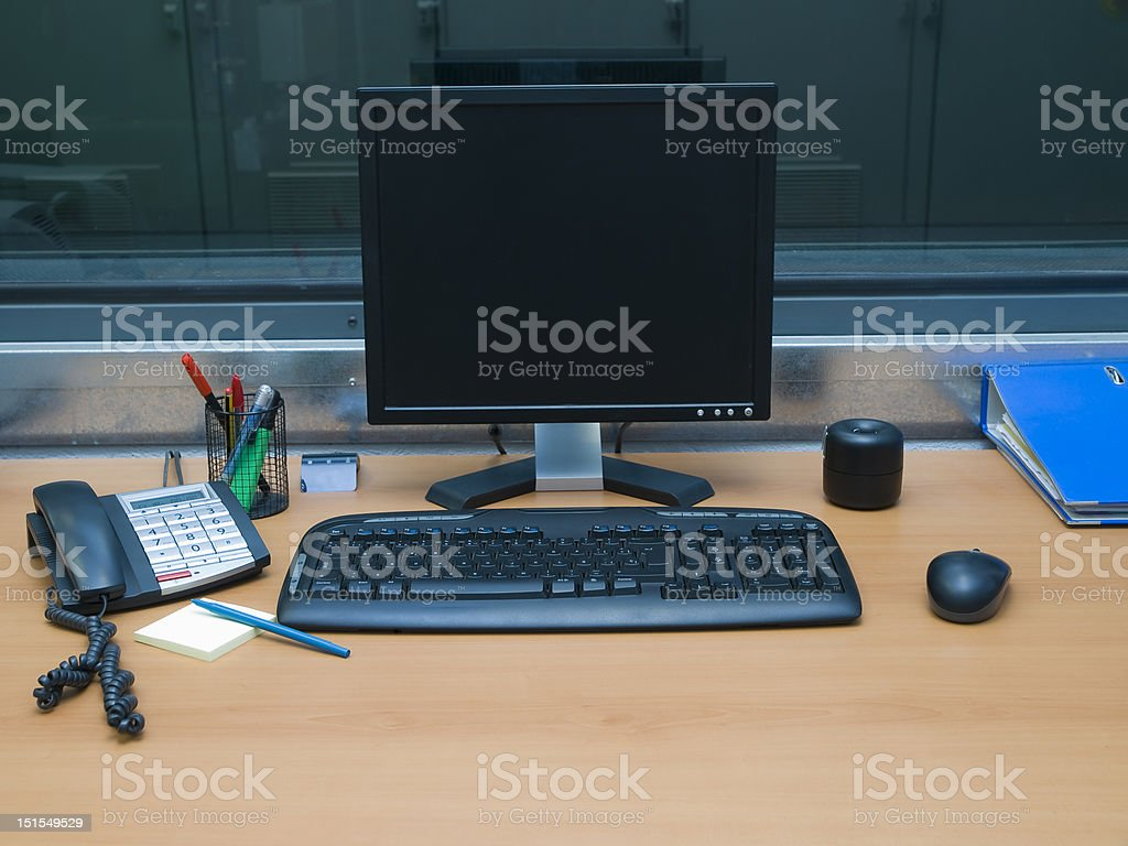 Desk work place royalty-free stock photo