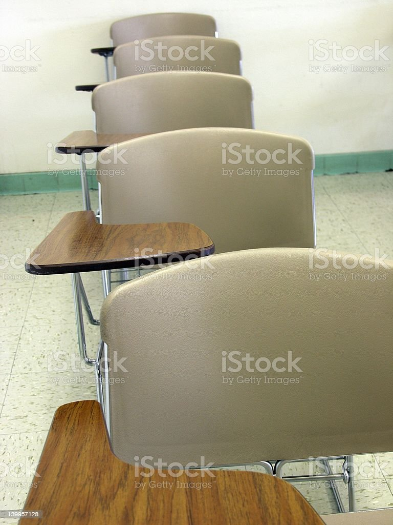 Desks in a Row stock photo