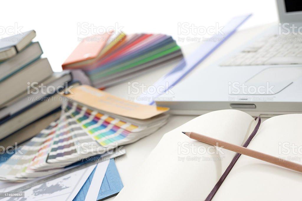 Desks Series, Close-ups - Graphic Designer stock photo