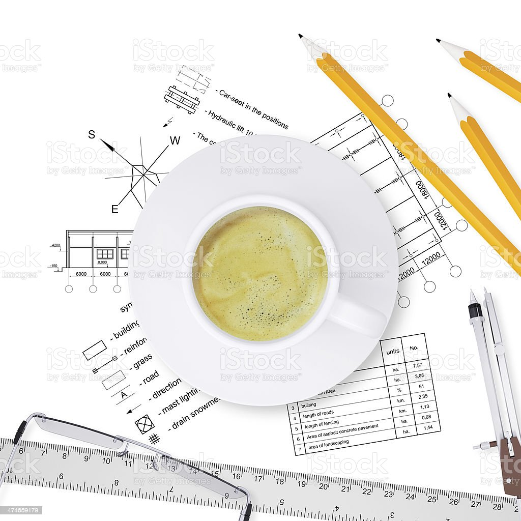 Desktop architect royalty-free stock photo