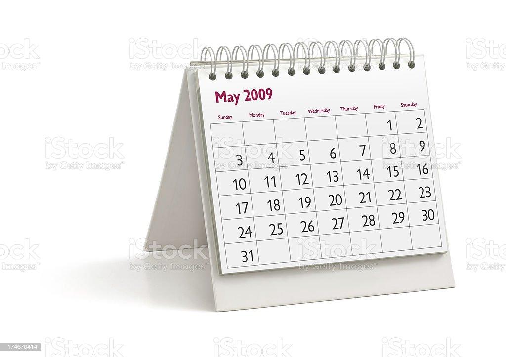 Desktop Calendar: May 2009 stock photo
