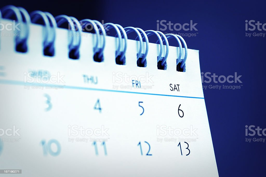 Desktop Calendar royalty-free stock photo